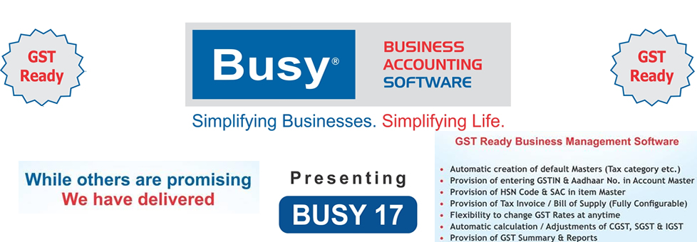 Busy GST Upgraded Accounting Software